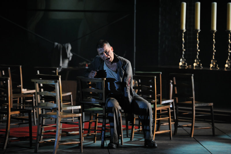 Timothy Dawkins, bass, as Angelotti in Tosca, at Holland Park