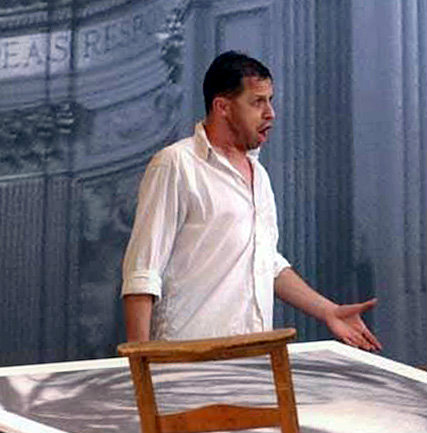 Timothy Dawkins, bass, as Angelotti in Tosca, at Grange Park