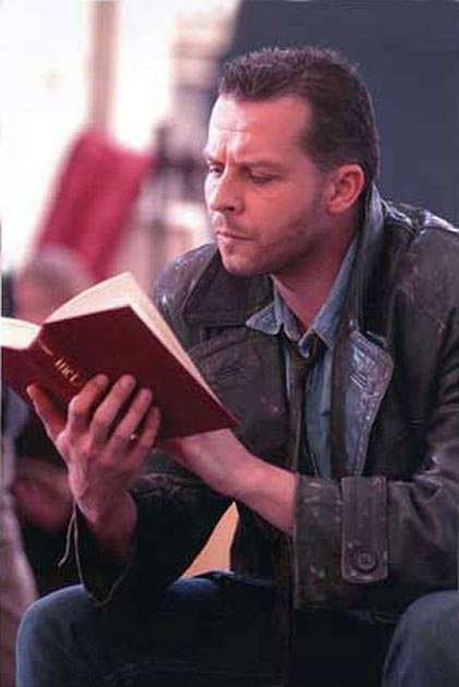 Timothy Dawkins, bass, as Colline in La boheme at Holland Park