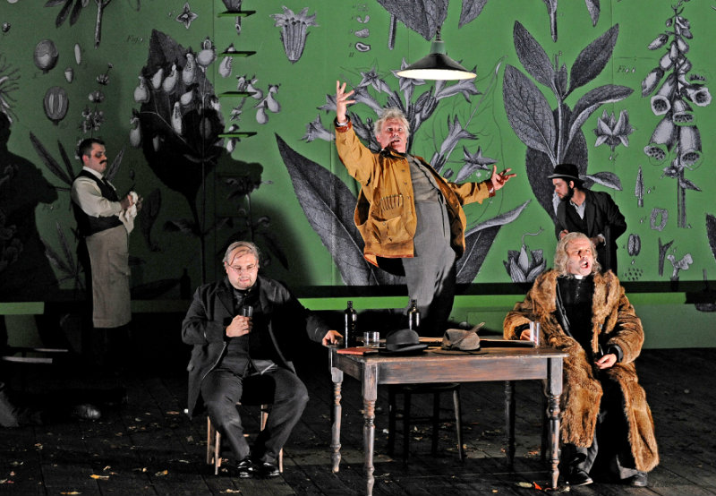 Timothy Dawkins, bass, as The Parson in Janacek's Cunning Little Vixen, for Grange Park