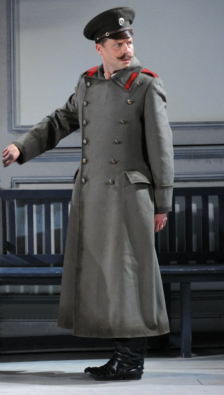 Timothy Dawkins, bass, as Timothy in the role of Surin in Queen of Spades, for Grange Park Opera
