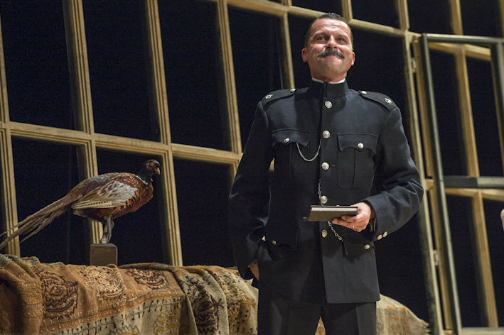 Timothy Dawkins, bass, as Timothy as Superintendent Budd in Britten's Albert Herring, for English Touring Opera