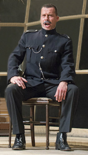 Timothy Dawkins, bass, as Superintendent Budd in Britten's Albert Herring, for English Touring Opera