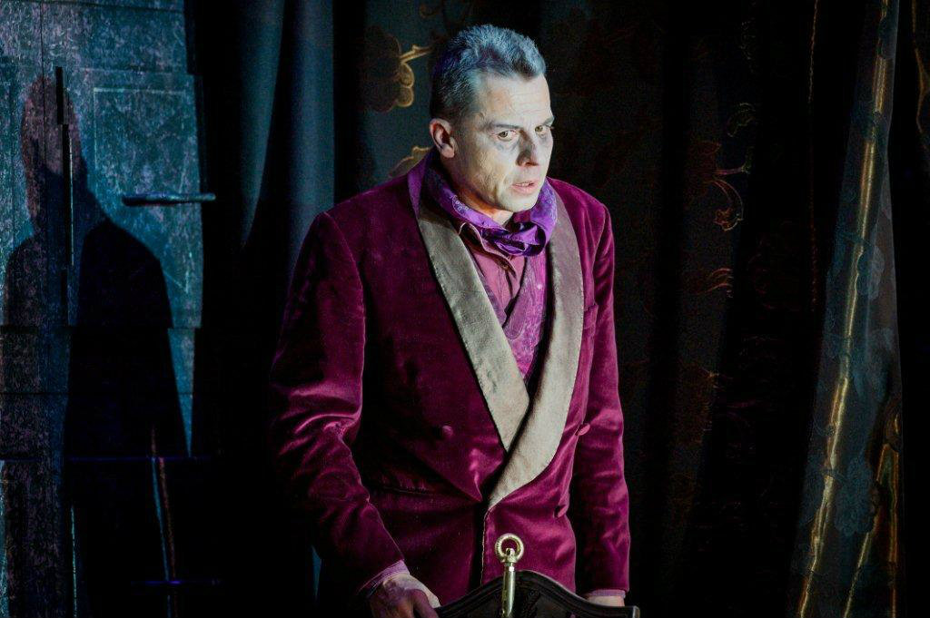 Timothy Dawkins, bass, as Timothy as Crespel in The Tales of Hoffmann for English Touring Opera, 2015