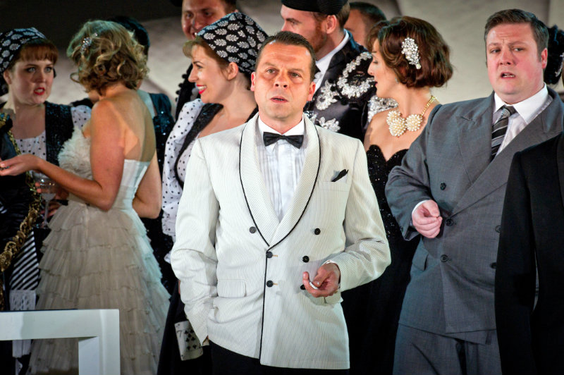 Timothy Dawkins, bass, as Timothy as Baron Duphol in La Traviata